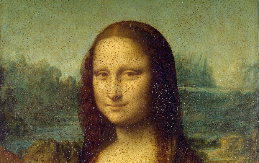 Mona Lisa face detail