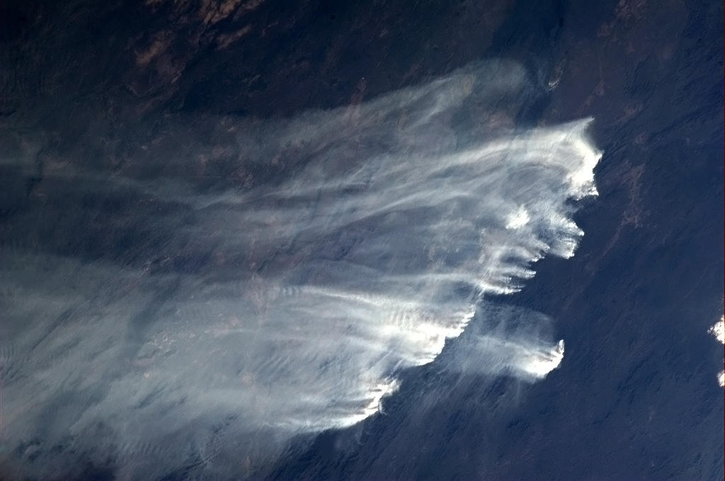 Picture of australian fires from space.  NASA/Chris Hadfield