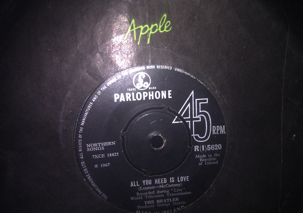 Apple records All You Need is Love