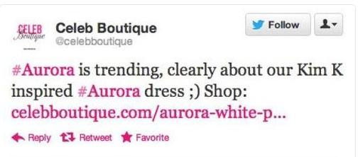 Celeb Boutique Twitter fail