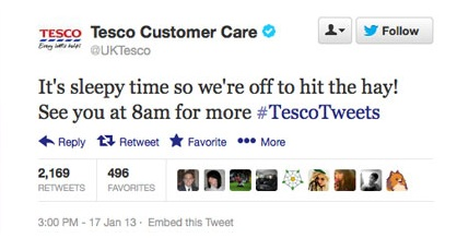 Tesco Twitter fail