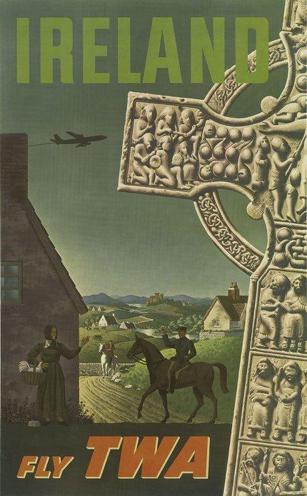 Visit Ireland retro poster