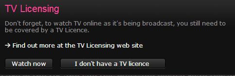 BBC iPlayer license fee