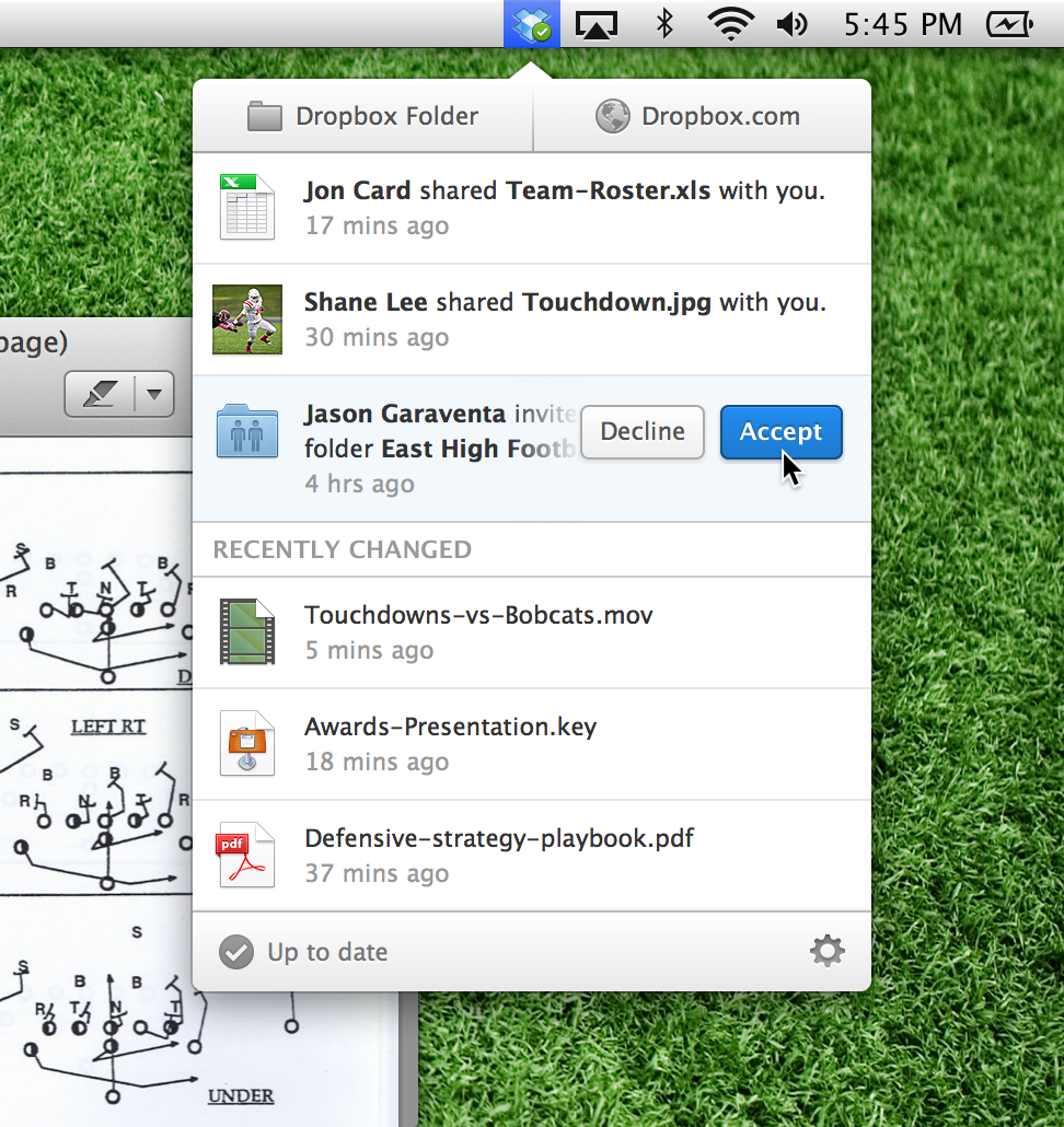 New Dropbox on mac
