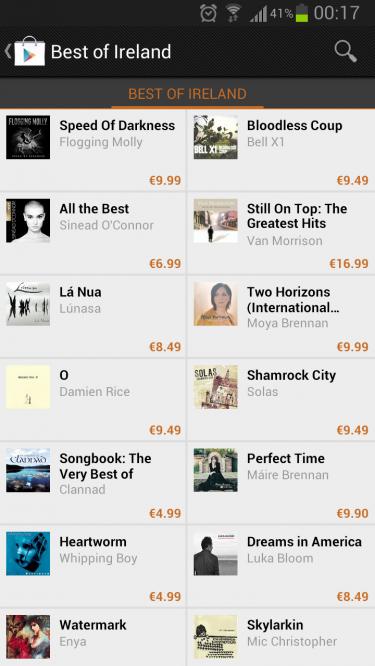 Google Play Music - Best of Ireland