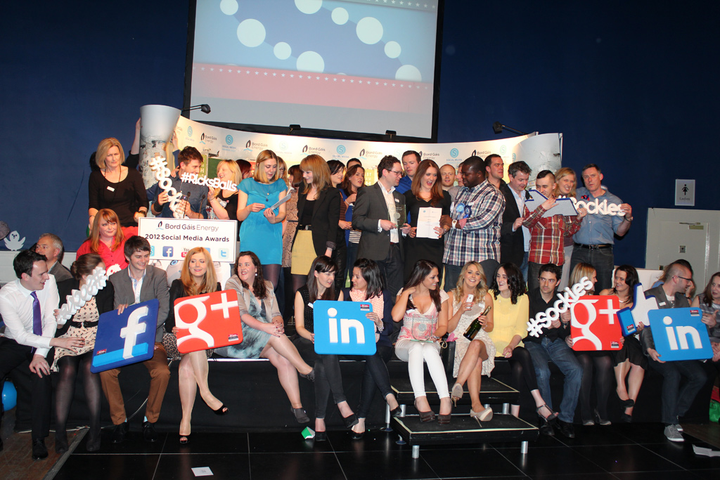 The 2012 Irish Social Media Award winners