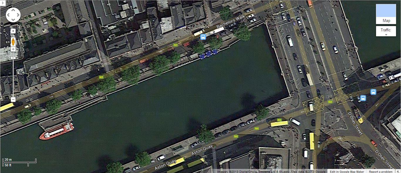 Google Maps' new imagery for Dublin