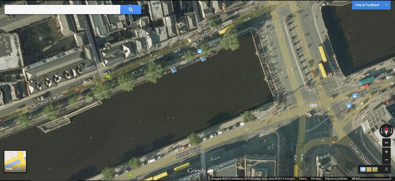 Google's old imagery for Dublin