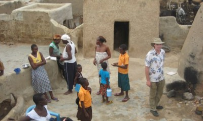Author in the village of Paga, Ghana