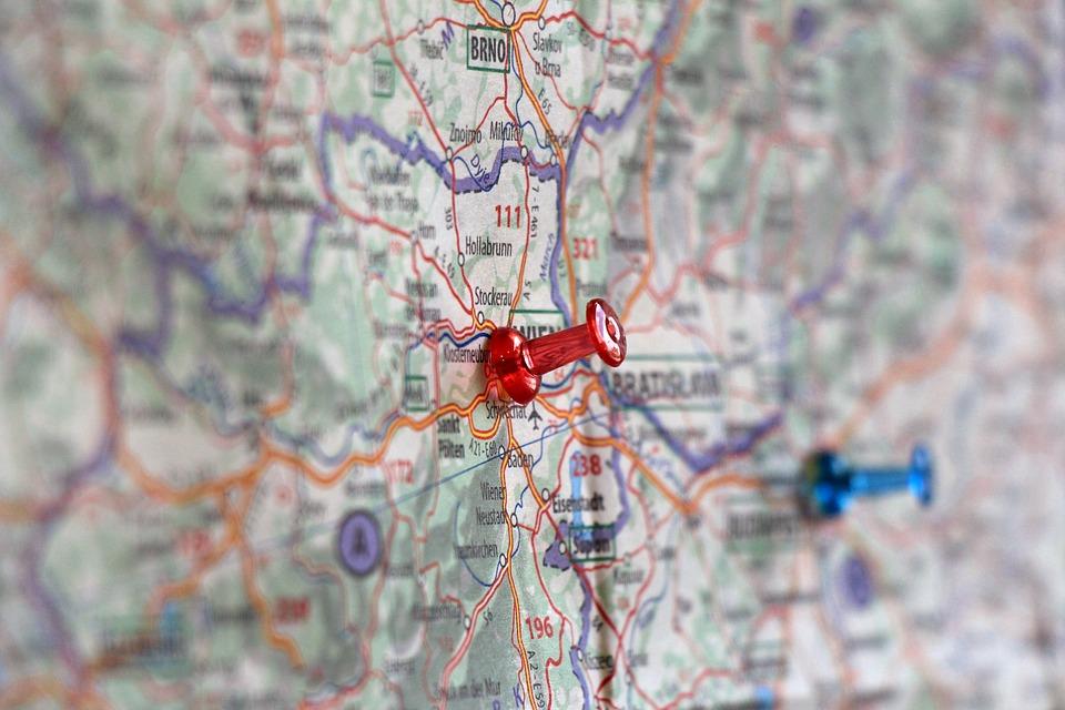 map, pin