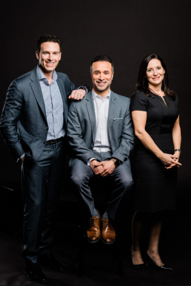 Anthony Lacavera (Chairman and Founder of Globalive), Claudio Rojas (Founder, Canadian Dream Summit) and Amanda Lang (Anchor, BNN Bloomberg) at Canadian Dream Summit 2019.