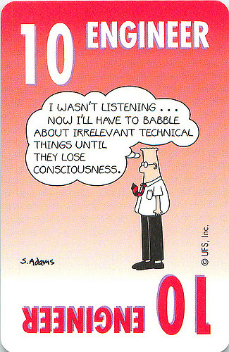 Dilbert, Engineer, tech babble