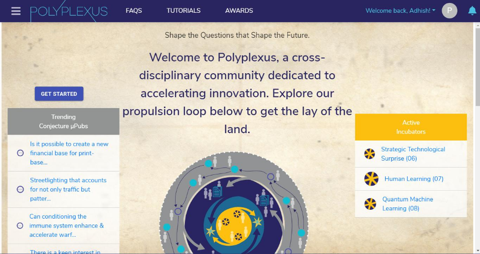 Polyplexus DARPA social network incubator