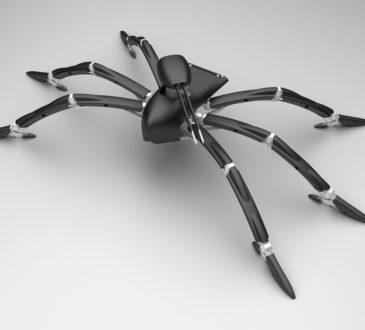 robot spider, nanoweapon