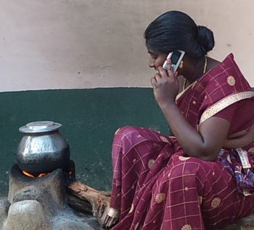 rural woman phone