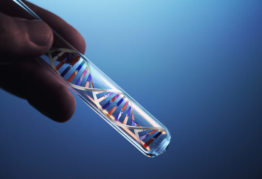 Dna molecule in test tube