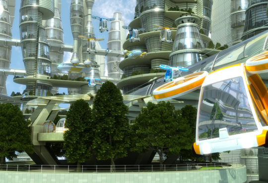 flying car, future city