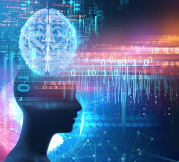 virtual human on brain delta wave form 3d illustration , represent meditation and deep sleep therapy.