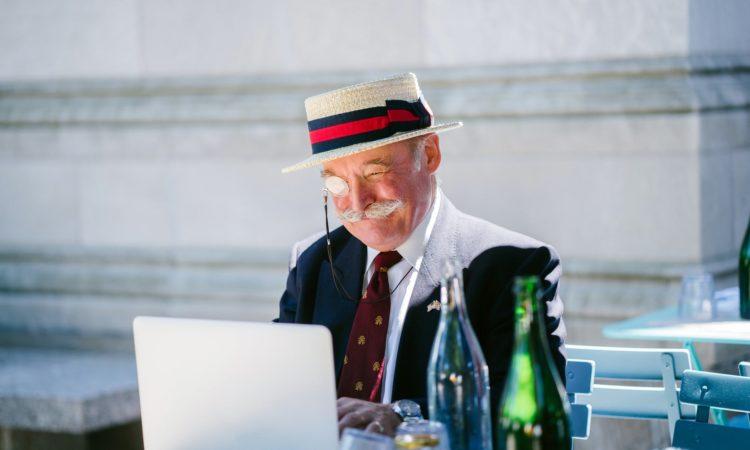 elderly with computer pexels