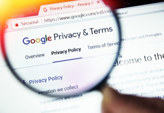 google privacy terms