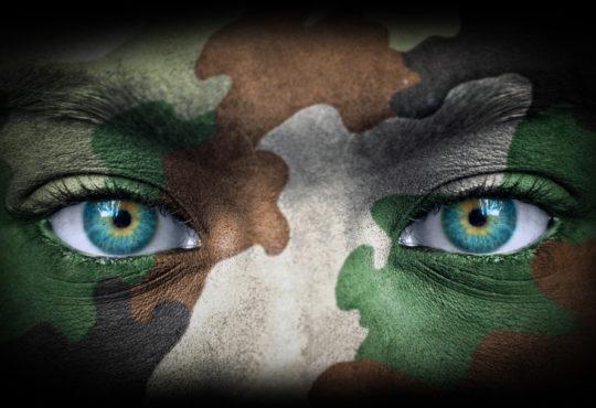 soldier face camo