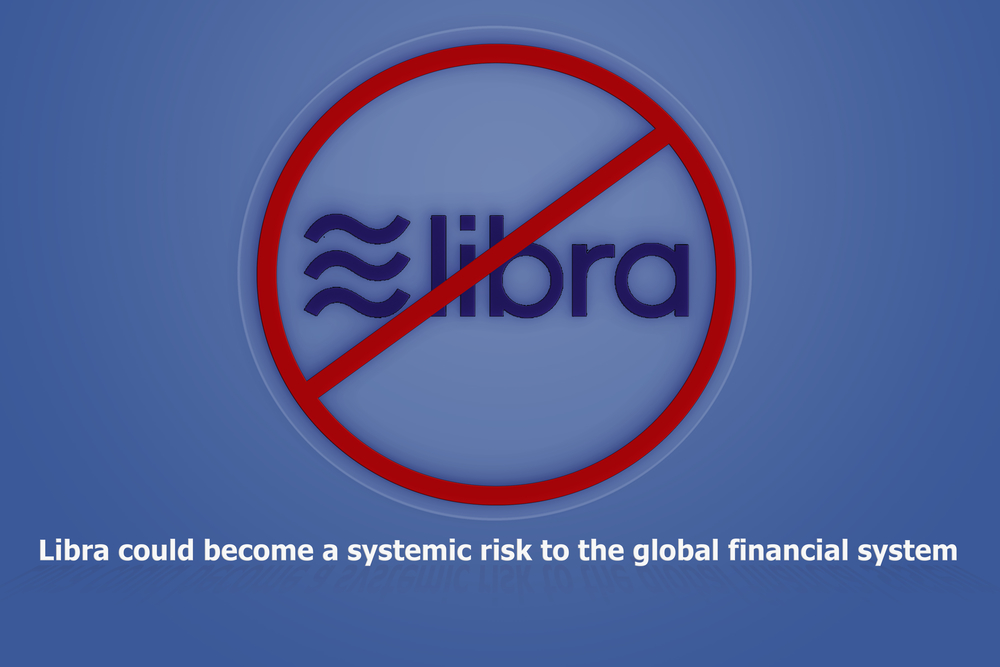 Facebook's Libra Coin could become a systemic risk to the global financial system and rival central banks .