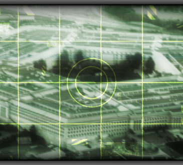 US Pentagon seen through target scope