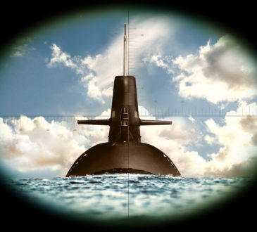 submarine in crosshairs