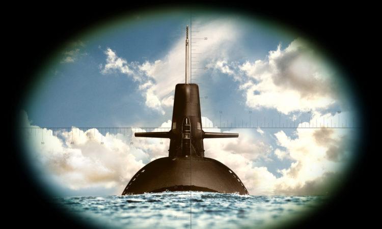 submarine in crosshairs