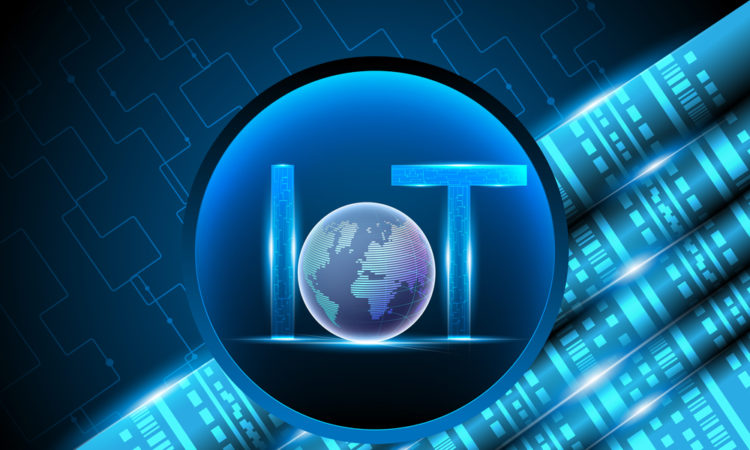 Internet of things (IOT),light letter text symbol with Global data center,concept abstract background,Vector illustration.