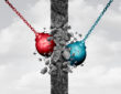 red and blue wrecking balls
