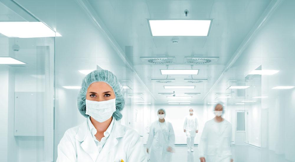 scientists modern hospital