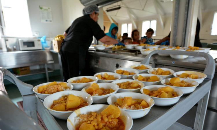 refugees cafeteria