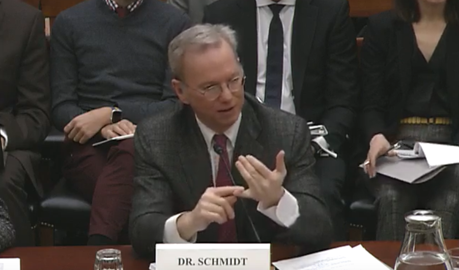Eric Schmidt congressional hearing