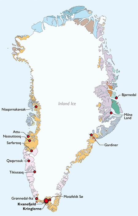 Greenland Rare Earth Mineral deposits