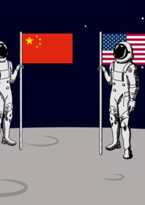 US China moon