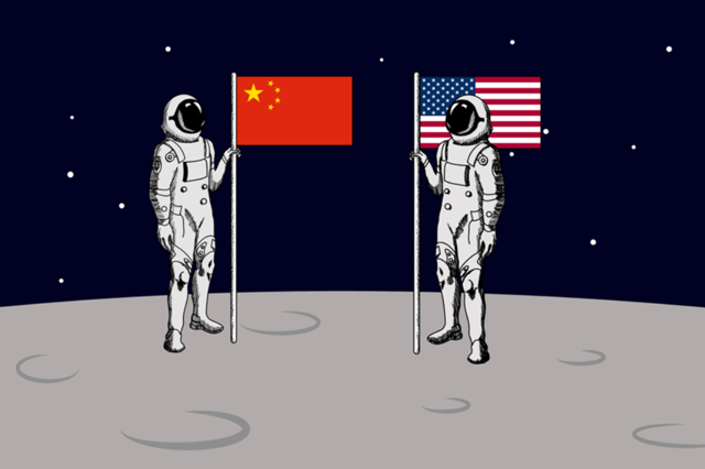 US China moon