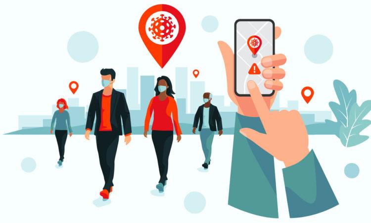 Digital contact tracing app