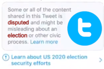 twitter disputed election