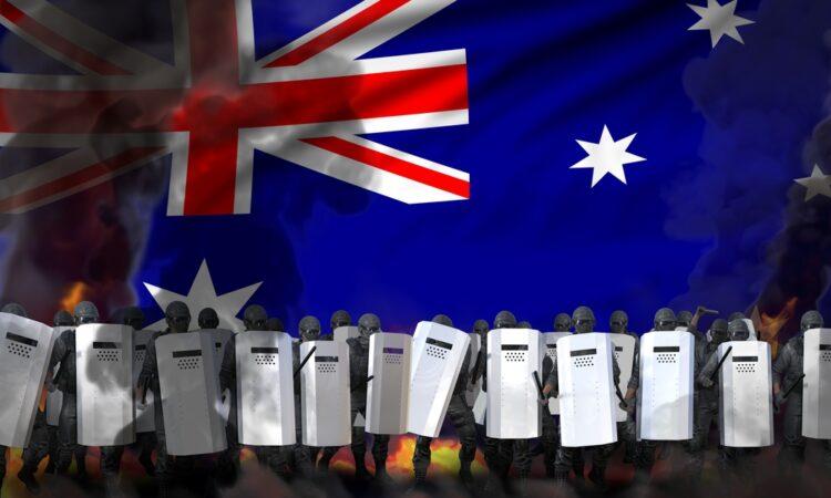 Australia lockdown protest